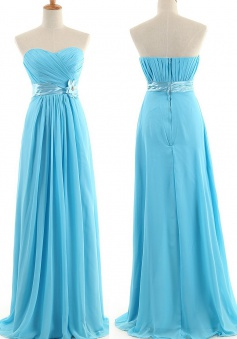 New Arrival A-Line Sweetheart Floor-length Chiffon Bridesmaid Dresses CHDT100099