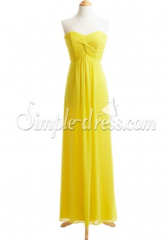New Arrival Sheath Column Sweetheart Chiffon Bridesmaid Dress
