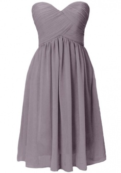 Gorgeous A-line Sweetheart Knee-length Ruched Chiffon Bridesmaid Dress