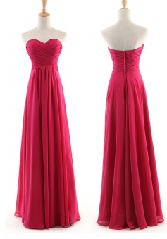 Best A-Line Sweetheart Floor-length Chiffon Bridesmaid Dresses CHDT100086