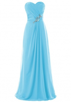Elegant A-line Sweetheart Ruched Floor-length Chiffon Beading Bridesmaid Dress