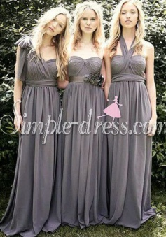 Sweetheart A-line Floor-length Chiffon Bridesmaid Dress