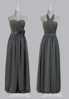 Sweetheart A-line Floor-length Chiffon Ruched Bridesmaid Dress