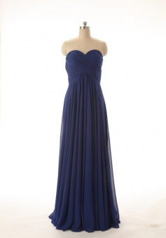 Hot-selling A-line Sweetheart Ruched Floor Length Chiffon Bridesmaid Dress