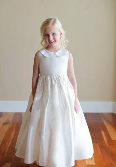 Chic Baby Girls Asymmetric Ruffles Satin//Organza Flower Girl Dress