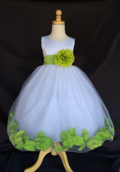 Elegant A-line Scoop Sleeveless Tulle With Handmade Flowers Dress Flower Girl Dress