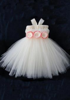 Lovely Ball Gown Zipper-up Tulle Short Flower Girl Dress TUFGD-8117