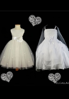 Simple Fashion A-line Scoop Sleeveless Tulle Flower girl Dress with Handmade Flower TUFGD-70922