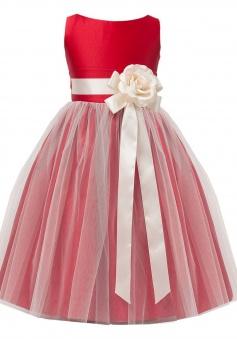 Sweet Kids Little Girls' Vintage Style Satin and Tulle Flower Girl Pageant Dress FGD-81303
