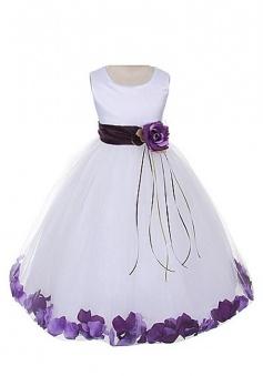 Satin Bodice Communion Flower Girl Pageant Petal Dress FGD-81304
