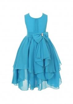Kid Dress Chiffon Asymmetric Ruffled Flower Girl Dress with Scoop Neck FGD-81307