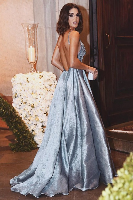 satin a line dress