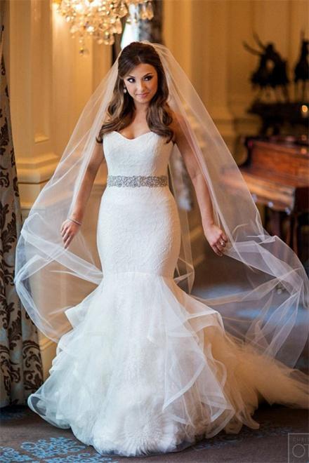 Sweetheart Mermaid Organza Wedding Dress 2018 Elegant Bridal Dresses ...