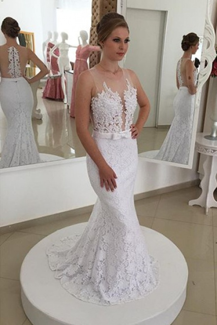 New Arrival Lace Mermaid Bridal Gown Latest Simple Custom Made ...