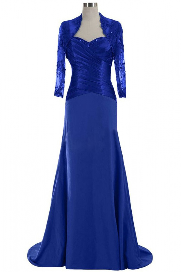 Royal Blue Long Chiffon Mother