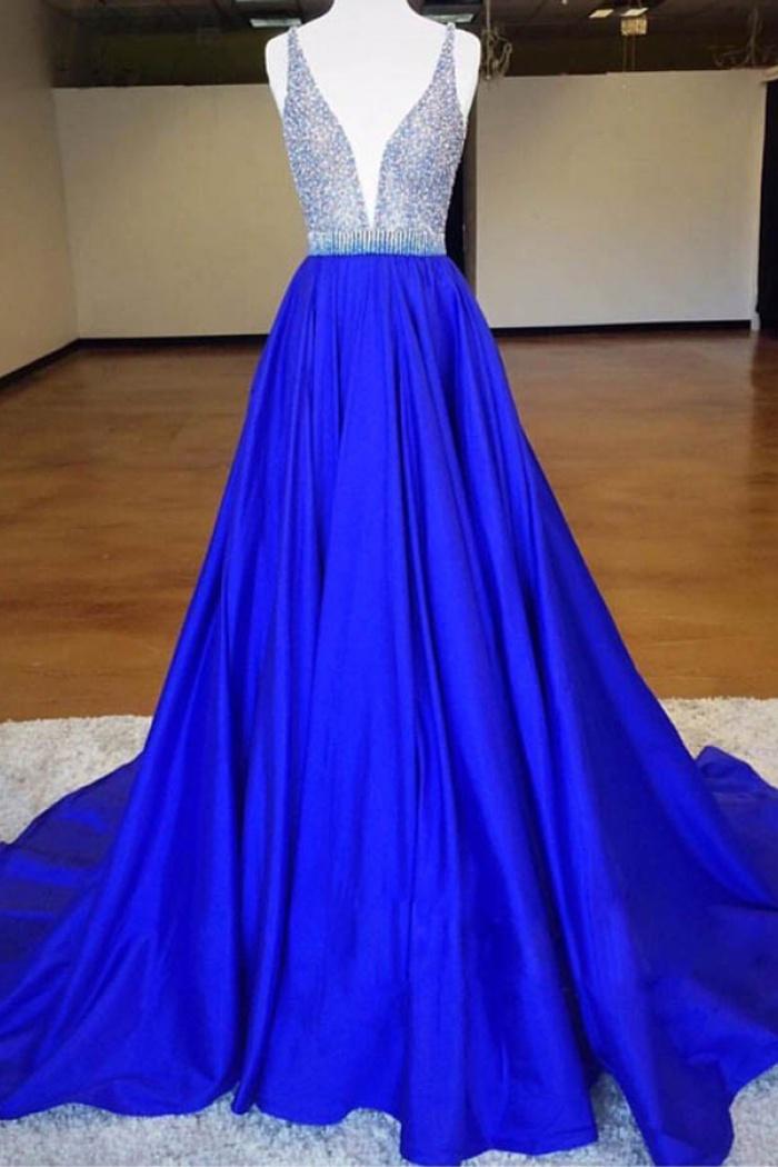 royal blue prom dresses - 670×900