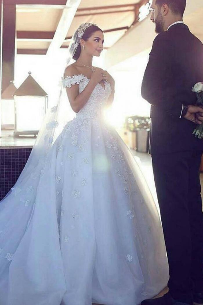 Off-the-shoulder,Wedding Dresses - Wisebridal.com