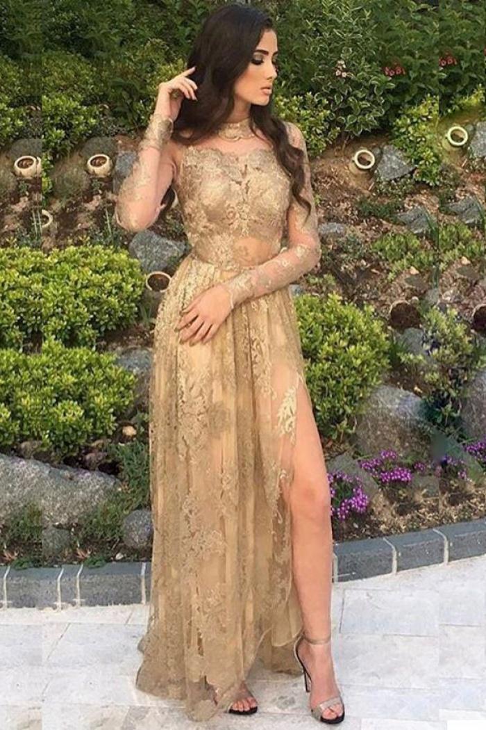 Long Sleeves Prom Dresses