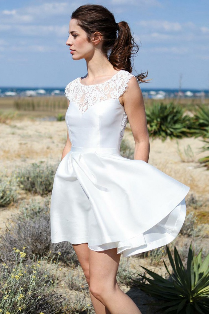 Open Back Beach Wedding Dress