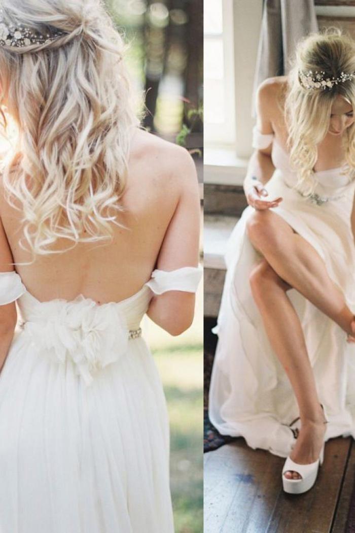 Off White Sashes for Wedding Dresses