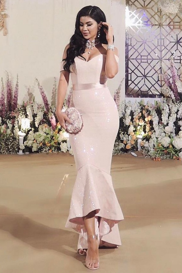 Pearl Pink Satin Dress
