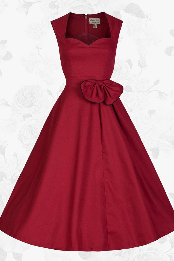 22efa1d8472 Red Retro Sweetheart 50s 60s Style Pin up Rockabilly Party Swing Prom Dress  0