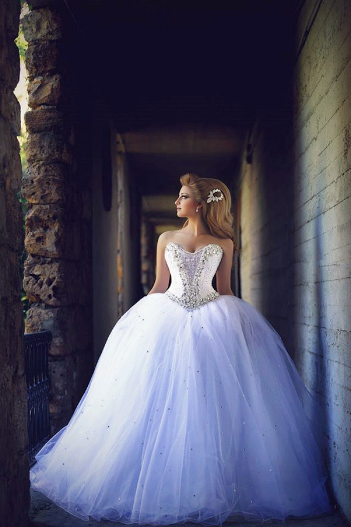 Princess Wedding Dress with Crystals