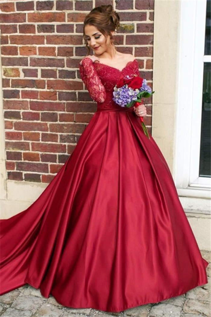 Long Sleeve Evening Dresses