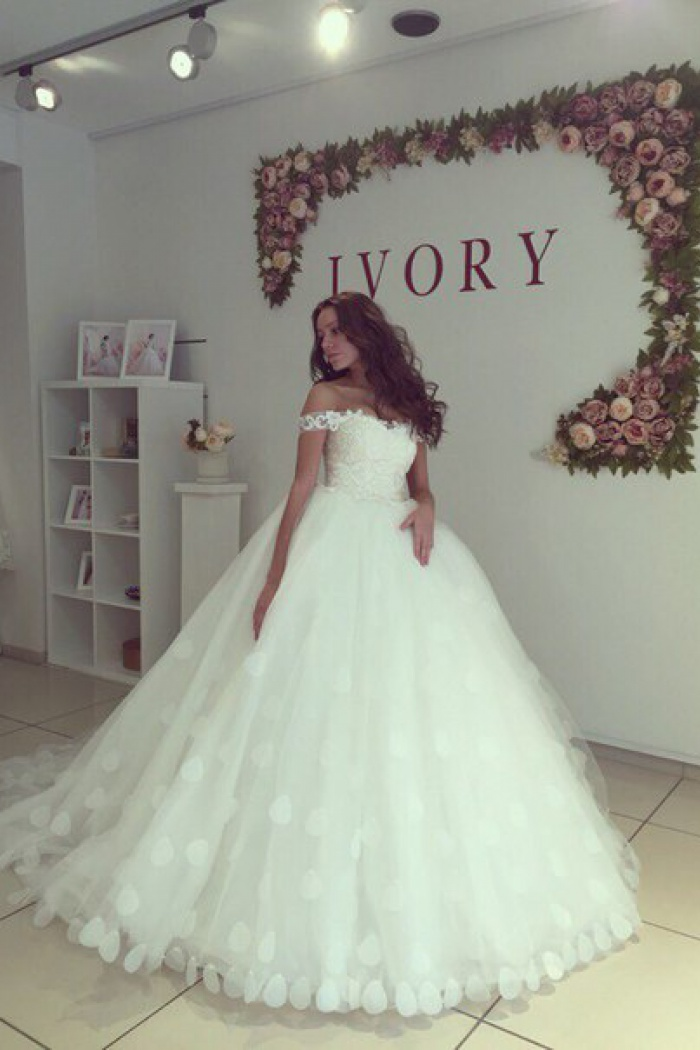 Off The Shoulder Ball Gown Wedding
