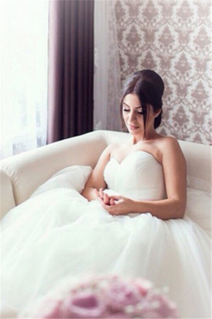 New Arrival Sweetheart Ball Gown Bridal Gown Latest Tulle Lace-Up ...