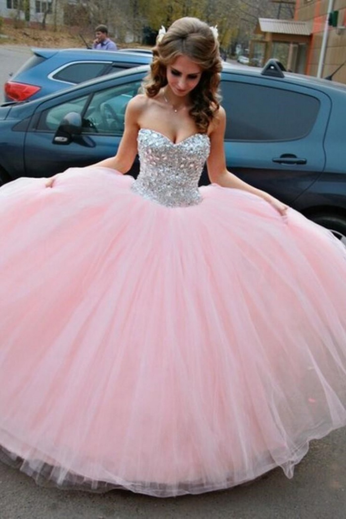 Vestido De Debutante Pink Ball Gown Wedding Dress Sweet Quinceanera Dresses With Crystals Cj0324 0