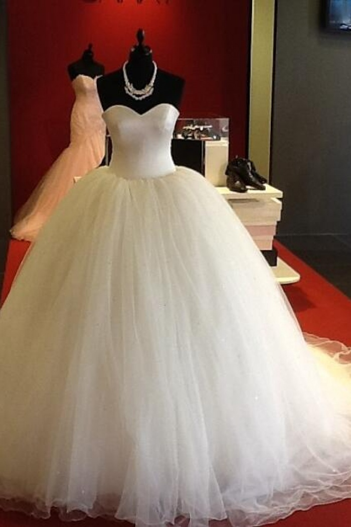 romantic sweetheart bodice corset organza ball gowns wedding dresses ...