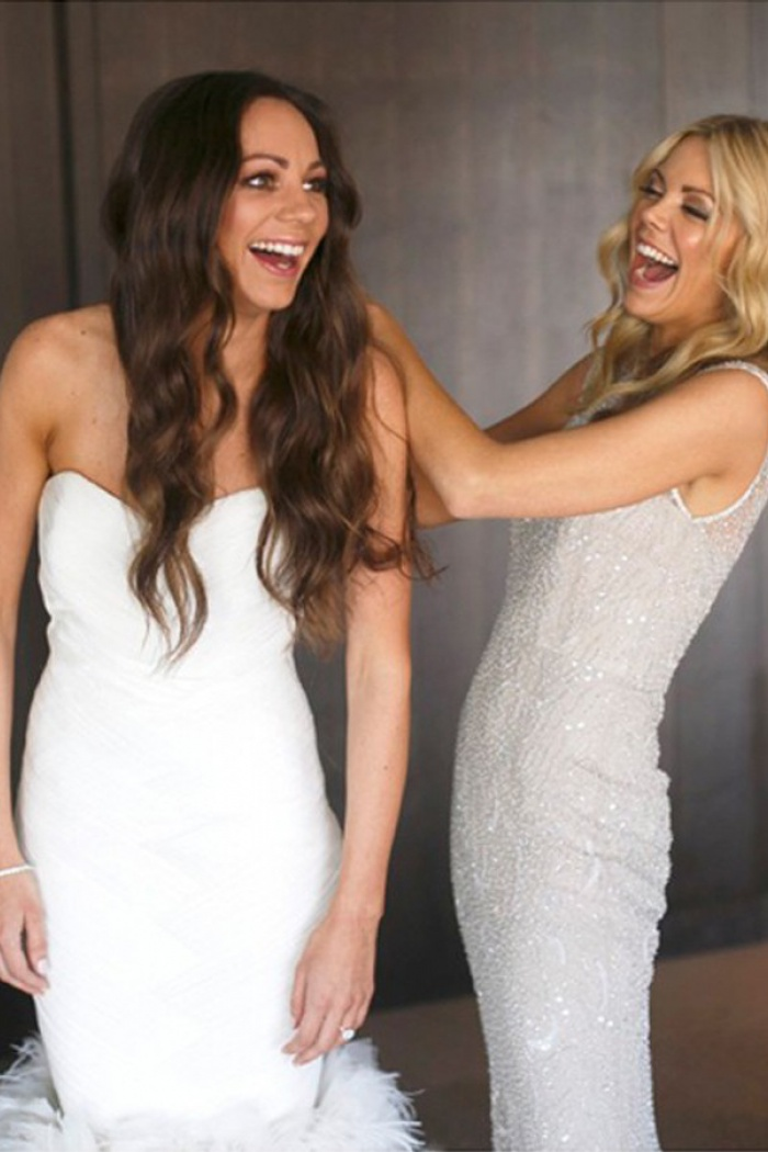Mermaid Sweetheart Floor Length Light Grey Tulle Bridesmaid Dress With Beading 3