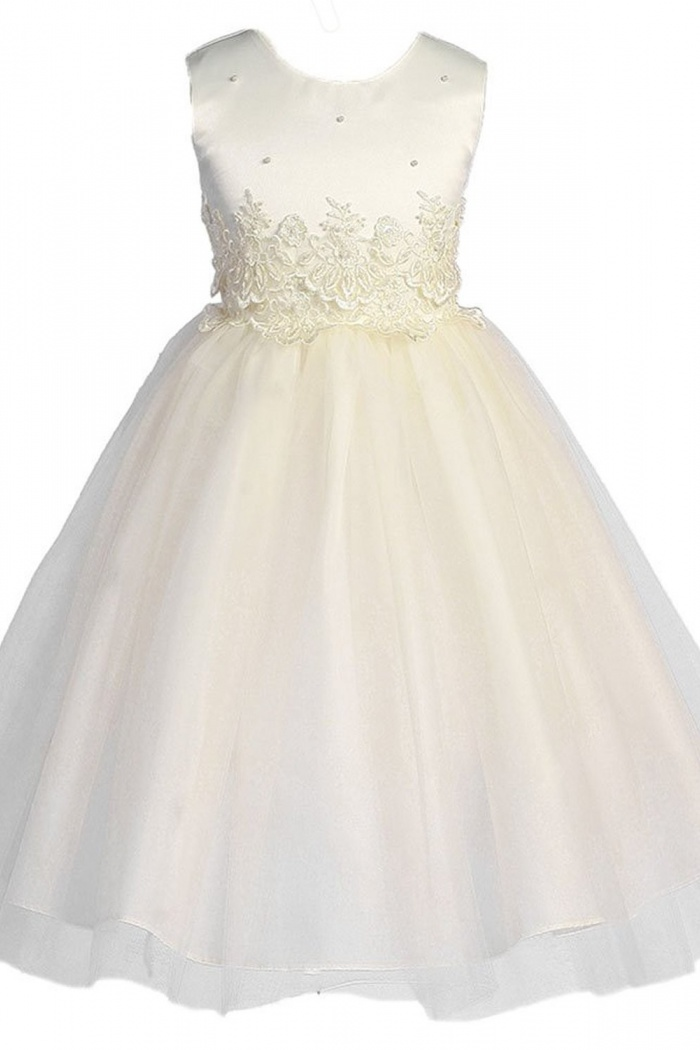 White Organza Ruffle Plum Flower Girl Dress Wedding Vintage Fall Holiday #014