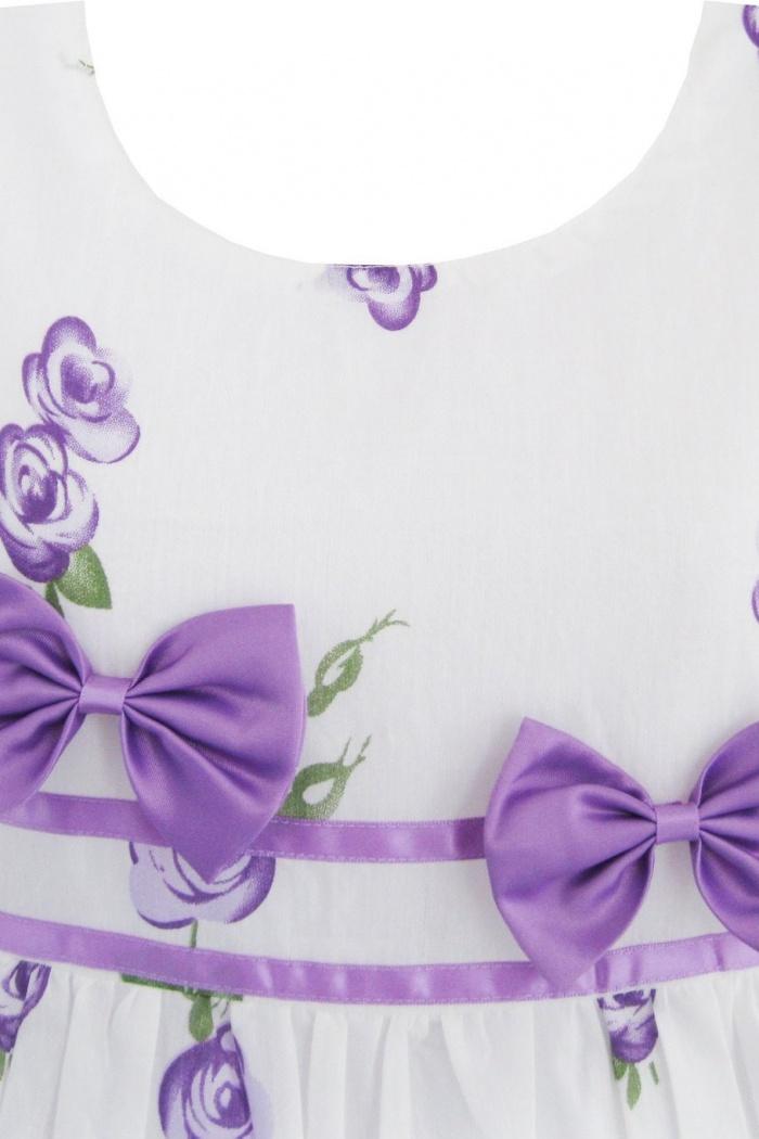 12c14f640bbce Sunny Fashion Girls Dress Purple Rose Flower Double Bow Tie Party Sundress  FGD-81311 2