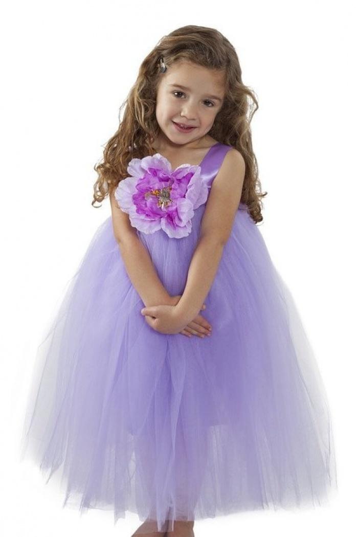 821378b66872 A-line Purple Satin Straps Tulle Flower Girl Dress with Flower FGD-81312 0