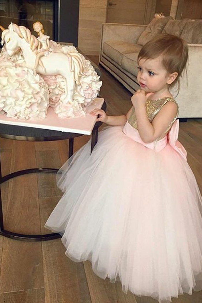 Ball gown bateau pink tulle flower girl dress with sequins bowknot ball gown bateau pink tulle flower girl dress with sequins bowknot 2 mightylinksfo